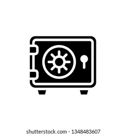 Safe Box Icon Vector Illustration Logo Template