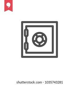 Safe box vector icon