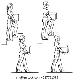 Safe carrying of heavy items: norms for men and women 2