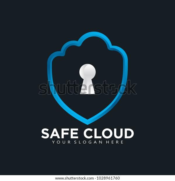 Safe Cloud Database Logo Icon Stock Vector (Royalty Free