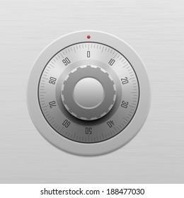 Safe combination lock wheel
