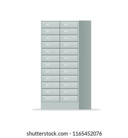Safe Deposit Locker icon. Clipart image isolated on white background