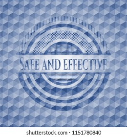 Safe and effective blue hexagon emblem.
