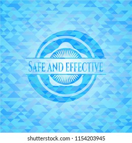 Safe and effective light blue mosaic emblem