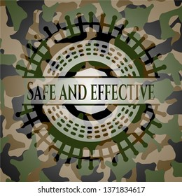 Safe and effective on camouflage pattern