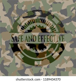 Safe and effective on camouflage texture