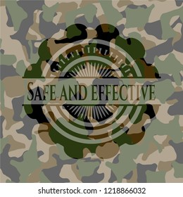 Safe and effective on camouflaged pattern