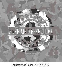 Safe and effective on grey camouflage texture
