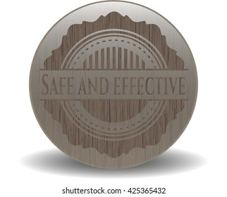 Safe and effective retro style wood emblem