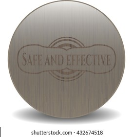 Safe and effective wood icon or emblem
