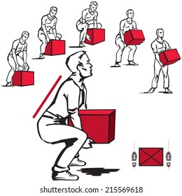 Safe handling of heavy items: men