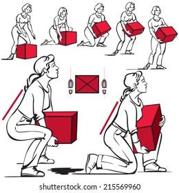 Safe handling of heavy items: women