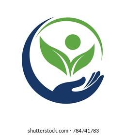 Safe Health and nutrition logo vector