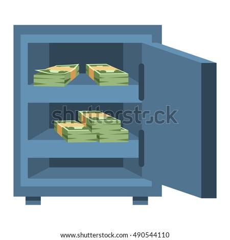 safe metal box money secure safe stock vector royalty free rh shutterstock com