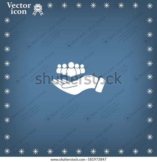safe people, vector icon illustration. Flat design style