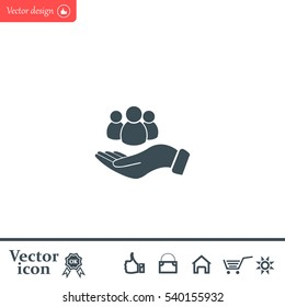 safe peoples, , vector icon illustration. Flat design style