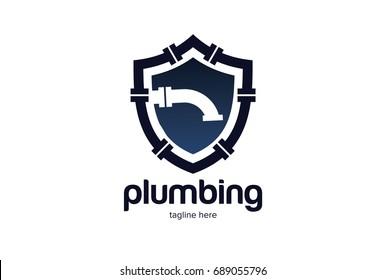 Safe Plumbing Logo Template Design Vector, Emblem, Design Concept, Creative Symbol, Icon