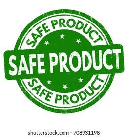 Safe product grunge rubber stamp on white background, vector illustration