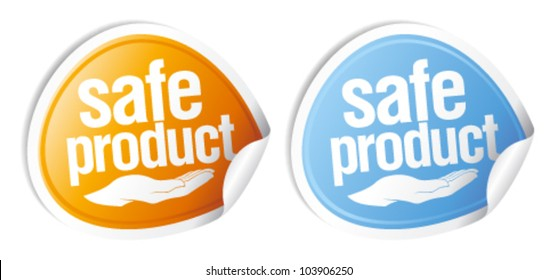 Safe product stickers set.