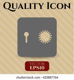 Safe (Safety deposit box) vector icon