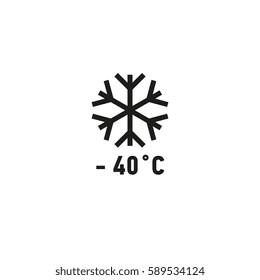 Safe for use on freezer symbol isolated on white background vector illustration. Product suitable for freezing sign. International standard black packaging pictogram