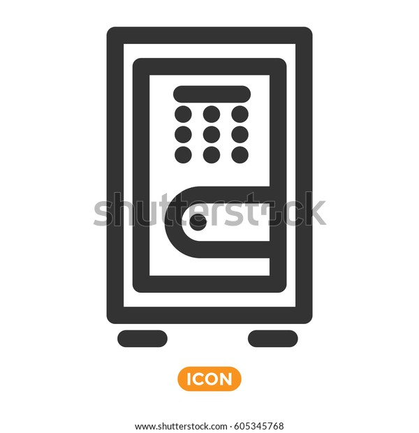 Safe Vector Icon Money Keeper | Royalty Free Stock Image