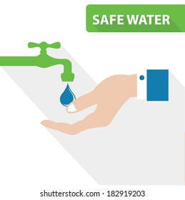 Safe water concept,vector