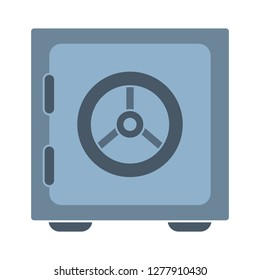 safe-box icon - safe-box isolated , money safe symbol illustration- Vector safe