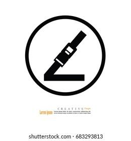 Safety belt. Seat Belt. Vector Illustration