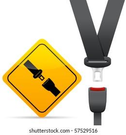 Safety belt - vector illustration