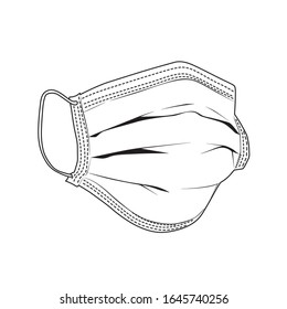 Safety breathing masks Corona Virus. Industrial safety N95 mask, dust protection respirator and breathing medical respiratory mask. Hospital or pollution protect face masking. - vector