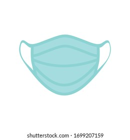 Safety breathing masks. dust protection and breathing medical respiratory. Corona masks. Hospital or pollution protect face masking. vector illustration