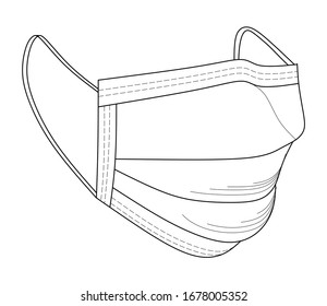 Safety breathing masks. Industrial safety N95 mask, dust protection respirator and breathing medical respiratory mask. Hospital or pollution protect face masking. Face pollution mask. Medical mask