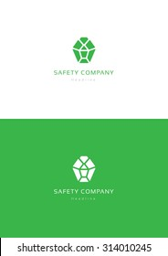Safety company logo teamplate.