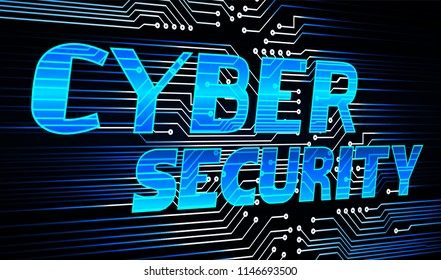 Safety concept, Closed Padlock on digital background, cyber monday security, Blue abstract hi speed internet technology background illustration. key vector