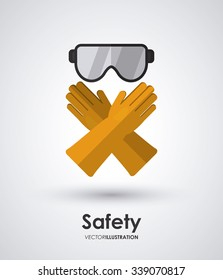Safety concept/equipment icons design, vector illustration 10 eps graphic.