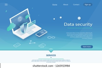 Safety and confidential data protection, concept with character saving code and check access. Data protection concept. Data Protection, privacy, and internet security.  Online safety, data protection.