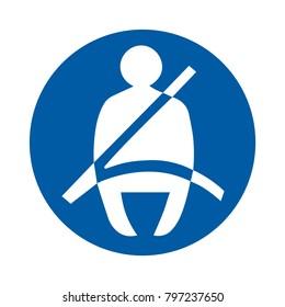 safety driving symbol, Seat Belt Symbol