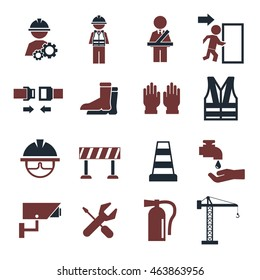 safety first icon set