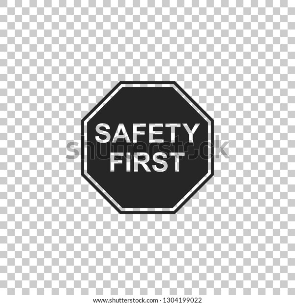 Safety First Octagonal Shape Icon Isolated Stock Vector Royalty Free 1304199022