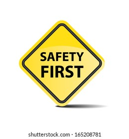 Safety First Symbol - vector