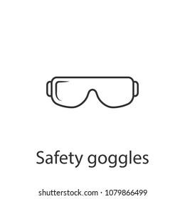 Safety glasses icon. Simple element illustration. Safety glasses symbol design from Construction collection set. Can be used in web and mobile on white background