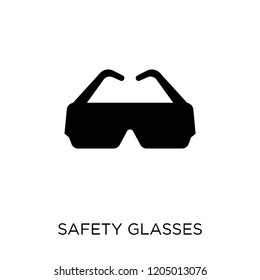 Safety glasses icon. Safety glasses symbol design from Construction collection. Simple element vector illustration on white background.