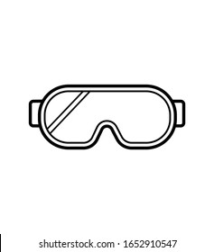 Safety glasses line icon vector isolated on white eps 10