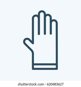 Safety hard construction glove icon in a flat design