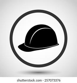 safety hard hat vector icon - black illustration