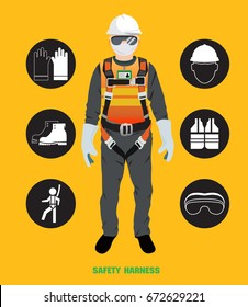 safety harness , construction vector