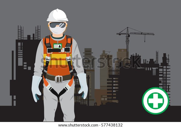 Safety Harness Construction Vector Stock Vector (Royalty