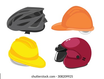 safety hat and helmet