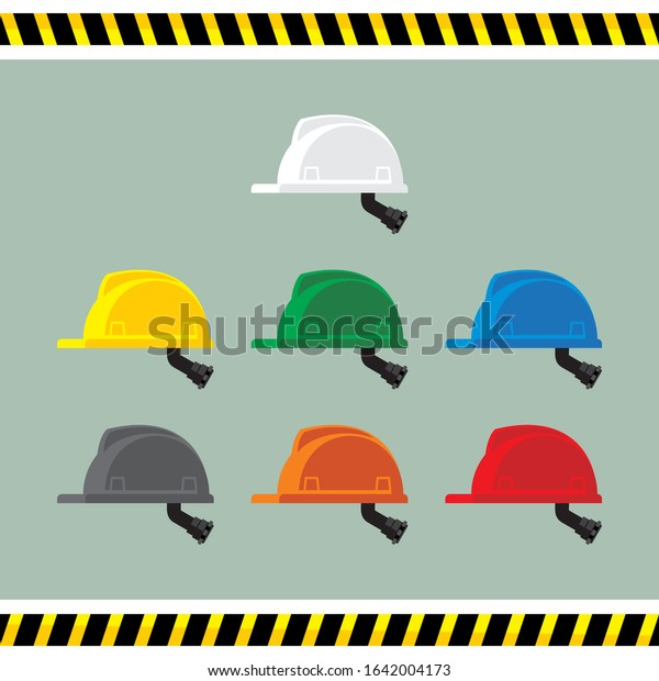Safety Helmet Colour Code Hard Hat Stock Vector Royalty Free
